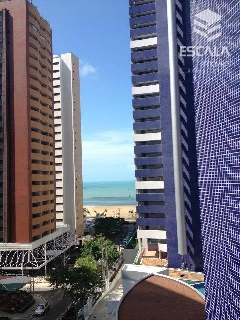 Apartamento para locação, 2 Quartos, Mobiliado, Meireles, Vista Mar, Com Internet / TV a Cabo
