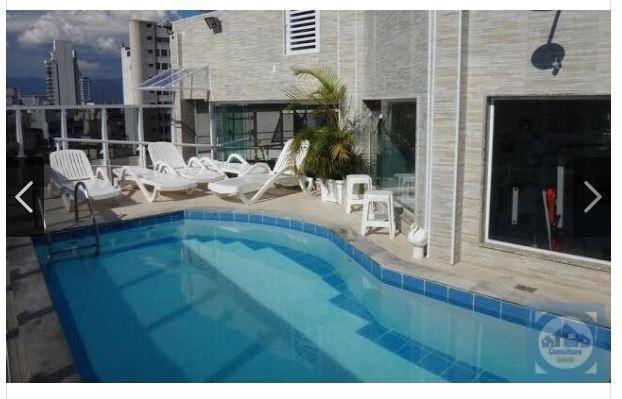 Flat com 1 dormitório à venda, 45 m² por R$ 297.000 - Gonzaga - Santos/SP