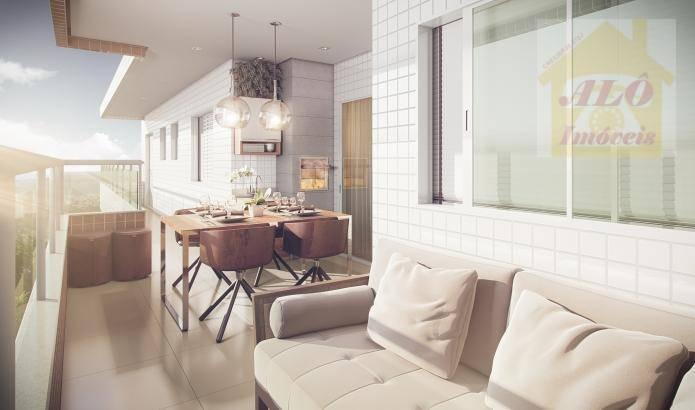 Apartamento com 2 dormitórios à venda, 69 m² por R$ 420.000 - Boqueirão - Praia Grande/SP