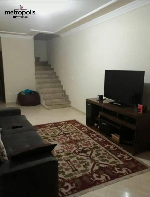 Sobrado com 2 dormitórios à venda, 103 m² por R$ 424.000 - Jardim Utinga - Santo André/SP