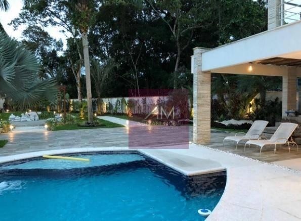 Deslumbrante Sobrado totalmente decorado e mobiliado  com 5 suítes  à venda, 620 m² por R$ 6.500.000 - Riviera de São Lourenço - Bertioga/SP