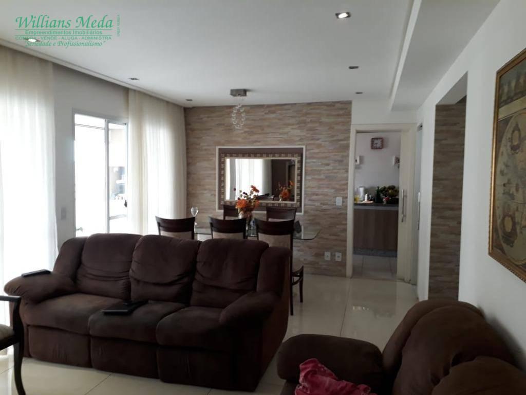 Apartamento com 3 dormitórios à venda, 134 m² por R$ 890.000 - Vila Augusta - Guarulhos/SP