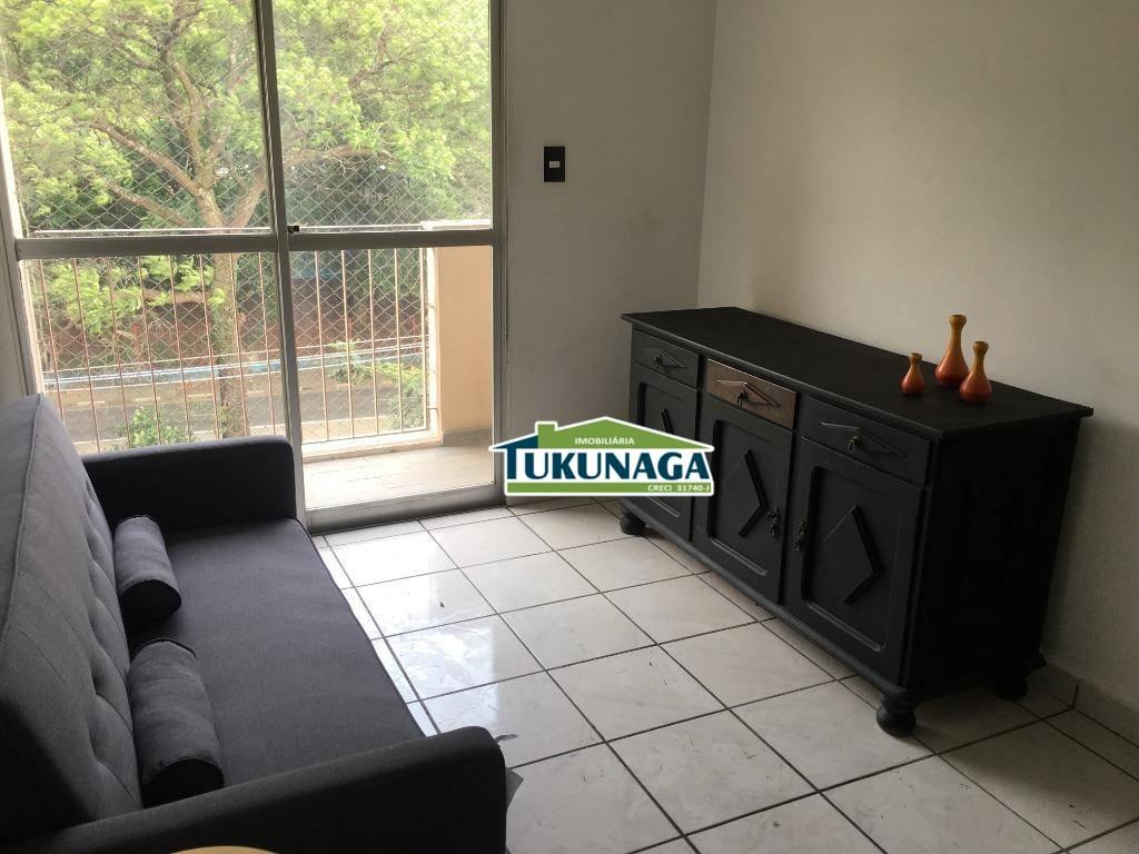 Apartamento com 2 dormitórios 100% mobiliado para alugar, 64 m² - Vila Augusta - Guarulhos/SP