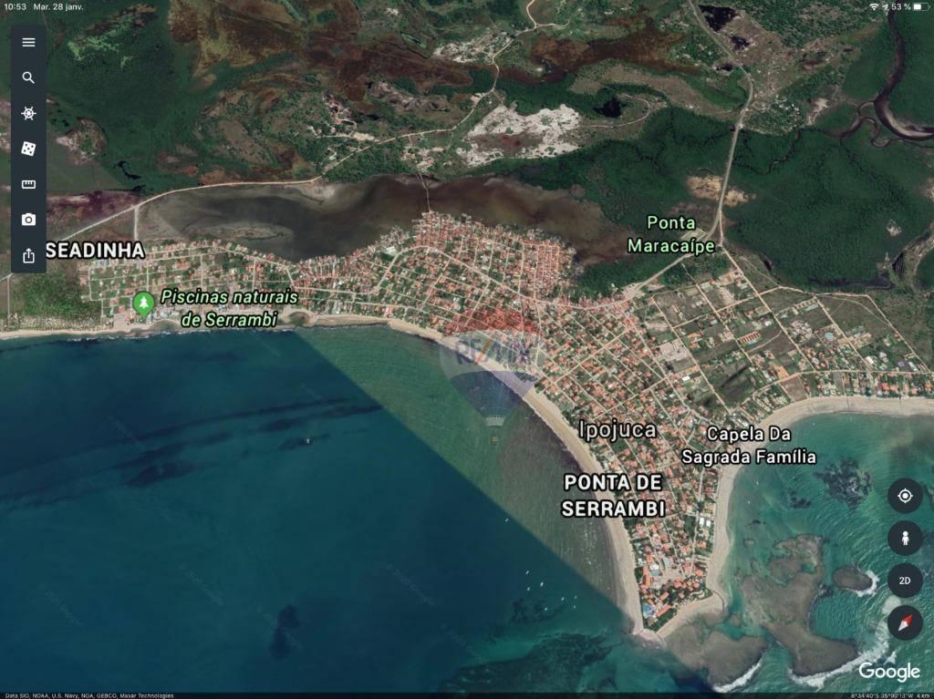 Terreno à venda, 416 m² por R$ 145.000,00 - Centro - Ipojuca/PE