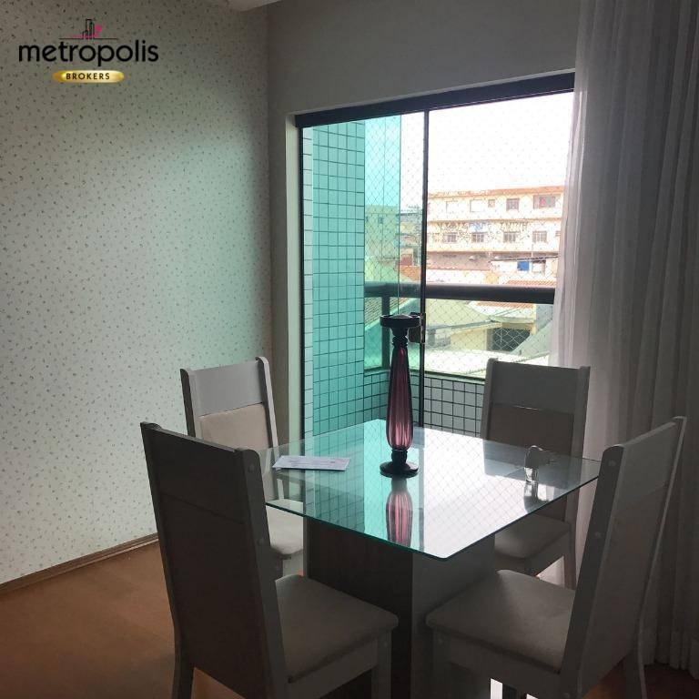 Apartamento com 2 dormitórios à venda, 72 m² por R$ 480.000,00 - Nova Gerti - São Caetano do Sul/SP