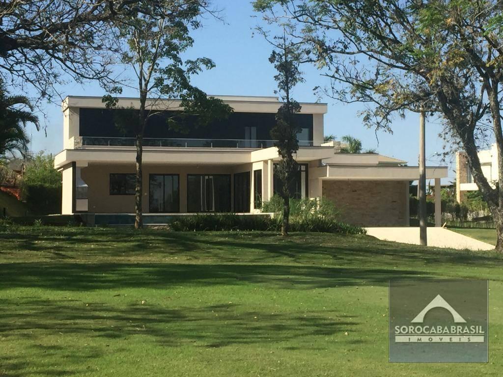 Sobrado com 4 dormitórios à venda, 600 m² por R$ 3.700.000,00 - Lago Azul Condomínio e Golfe Clube - Araçoiaba da Serra/SP
