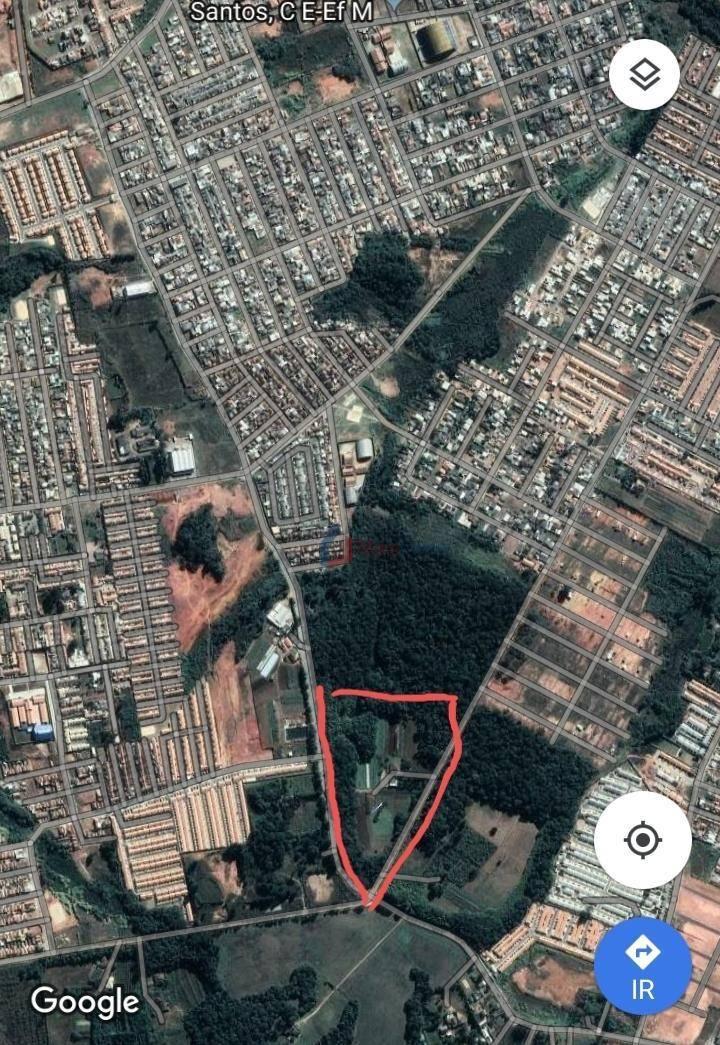 Terreno à venda, 96800 m² por R$ 13.780.000 - Estados - Fazenda Rio Grande/PR