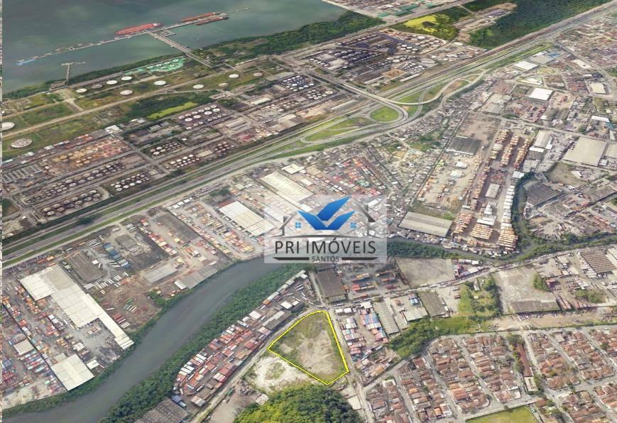 Área à venda, 12000 m² por R$ 12.700.000 - Chico de Paula - Santos/SP