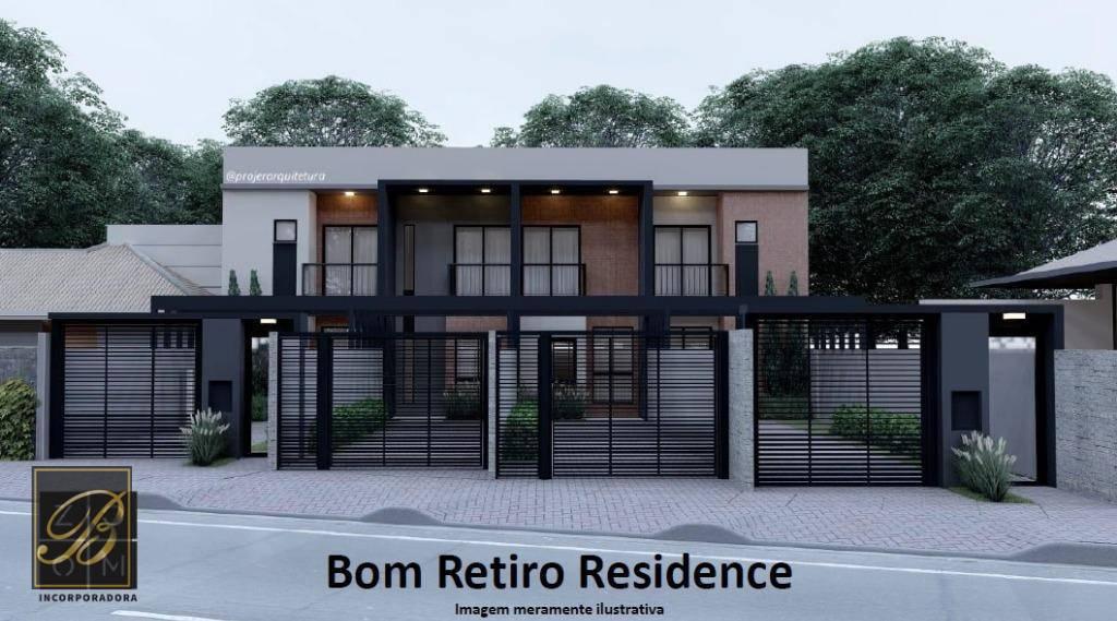 Sobrado com 3 dormitórios à venda, 100 m² por R$ 360.000 - Bom Retiro - Joinville/SC