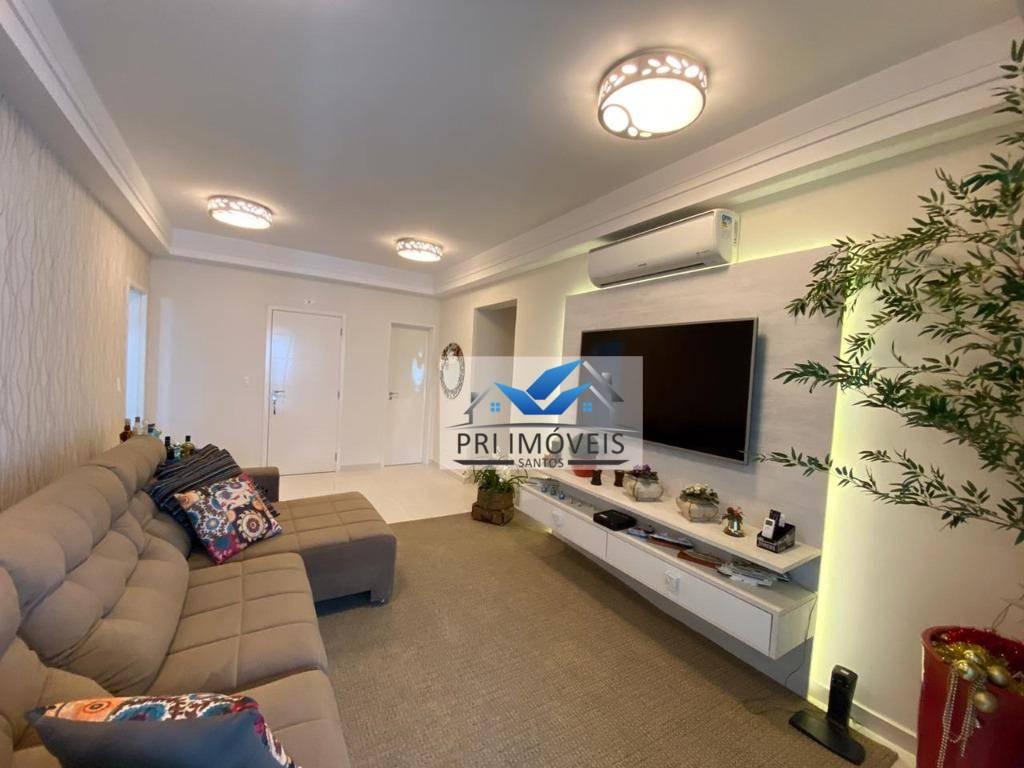 Apartamento para alugar, 150 m² por R$ 8.500,00/mês - Aparecida - Santos/SP