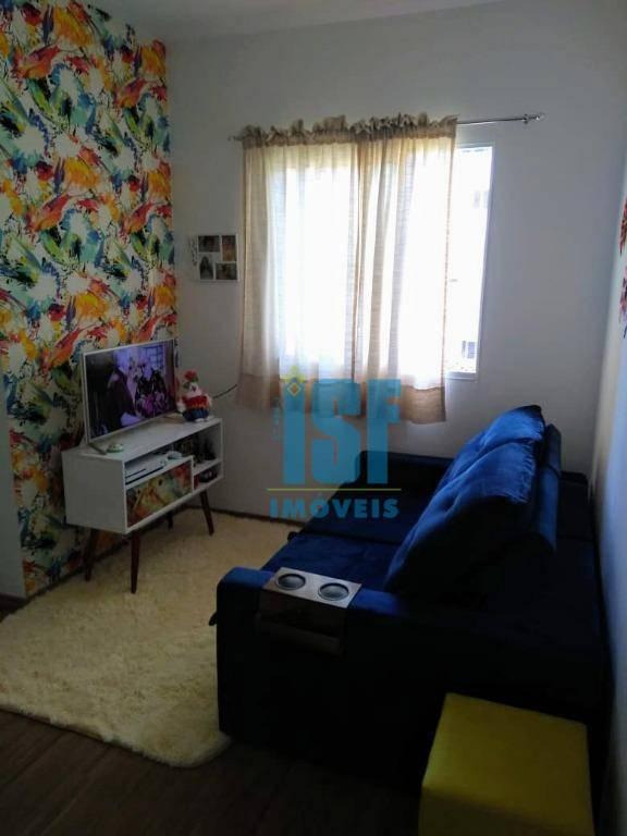 Apartamento com 2 dormitórios, 45 m² - venda por R$ 165.000 ou aluguel - Jardim Petrópolis - Cotia/SP - AP20034.