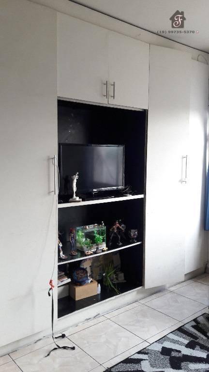 Kitnet com 1 dormitório à venda, 41 m² por R$ 115.000,00 - Botafogo - Campinas/SP