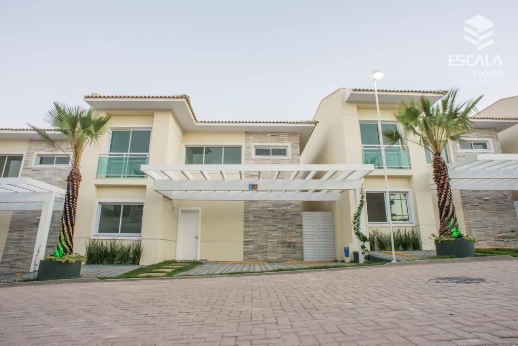 Casa duplex com 4 quartos à venda, 185 m², nova, cond. Fechado, área de lazer, financia - Antônio Diogo - Fortaleza/CE