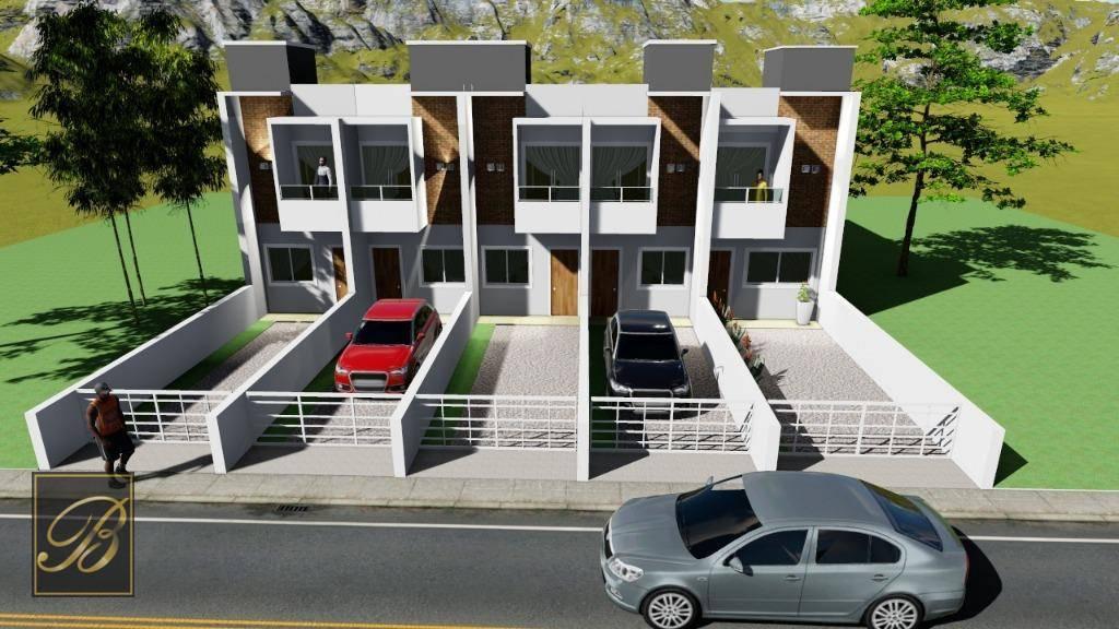 Sobrado com 2 dormitórios à venda, 68 m² por R$ 215.000 - Comasa - Joinville/SC