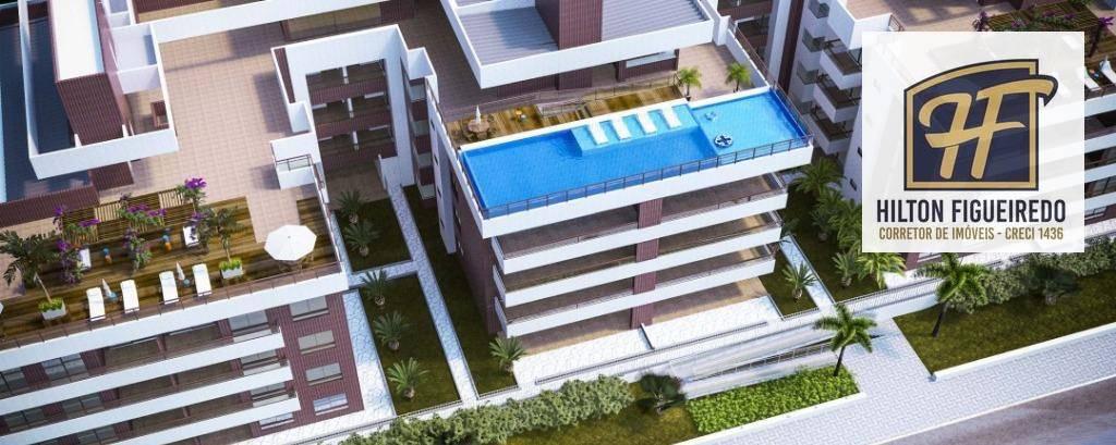 Apartamento com 2 dormitórios à venda, 78 m² por R$ 529.000 - Intermares - Cabedelo/PB