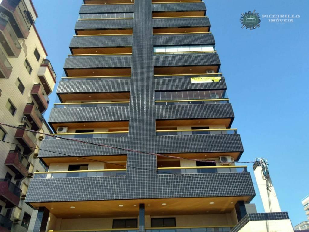 Apartamento 2 dormitórios, 73 m², R$ 370 mil, Guilhermina, Praia Grande/SP