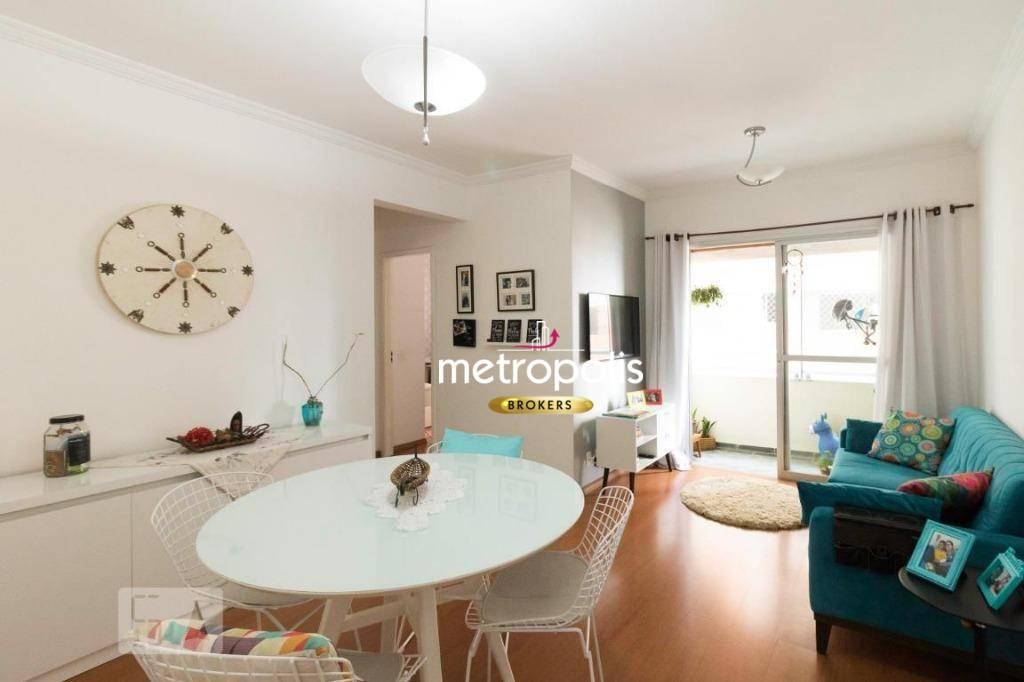 Apartamento com 2 dormitórios para alugar, 65 m² por R$ 1.550/mês - Assunção - São Bernardo do Campo/SP