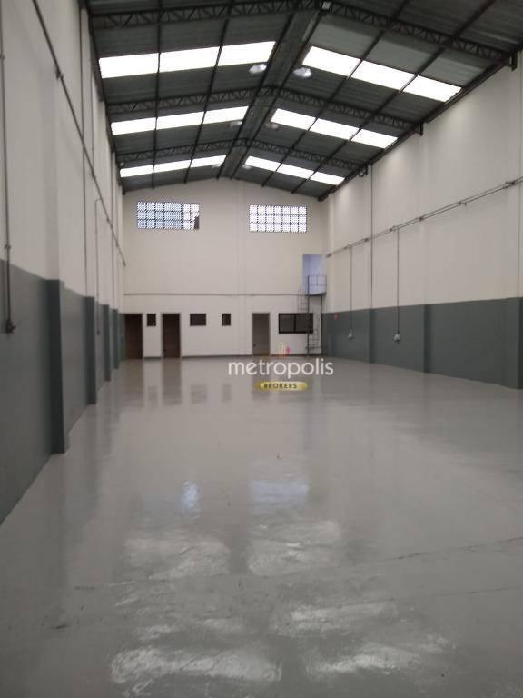 Galpão para alugar, 300 m² por R$ 7.500,00/mês - Fundação - São Caetano do Sul/SP