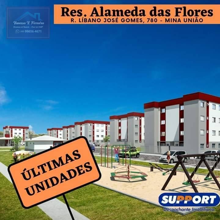 Apartamento com 2 dormitórios à venda por R$ 110.000 - Mina União - Criciúma/SC