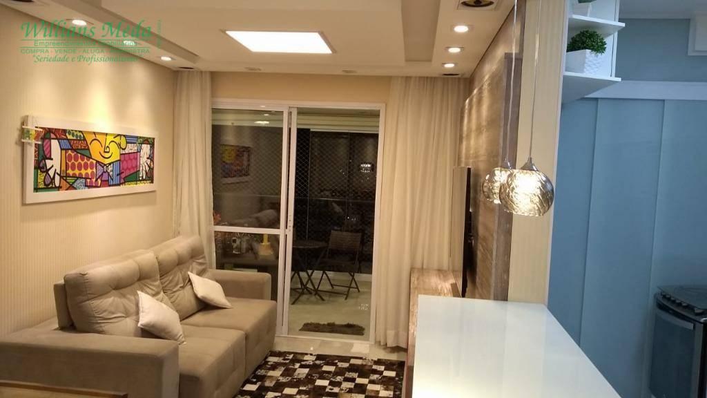 Apartamento com 2 dormitórios à venda, 68 m² por R$ 499.000 - Jardim Flor da Montanha - Guarulhos/SP