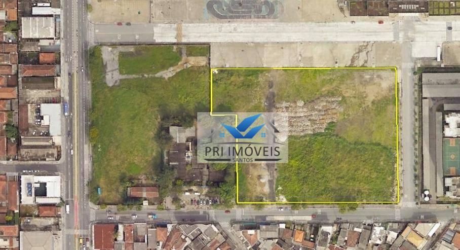 Área à venda, 15540 m² por R$ 25.450.000 - Areia Branca - Santos/SP