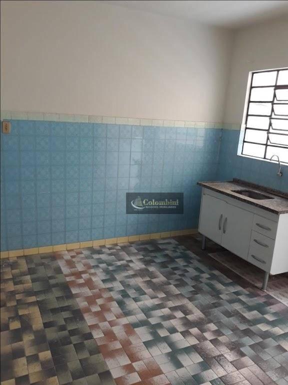 Casa com 1 dormitório para alugar, 60 m² - Vila Aquilino - Santo André/SP