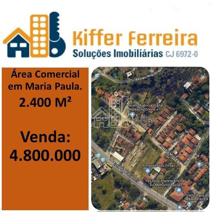 Área à venda, 2400 m² por R$ 4.800.000,00 - Maria Paula - Niterói/RJ