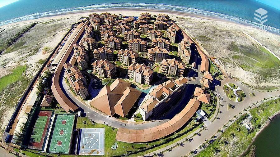 Apartamento duplex com 3 quartos à venda, 203 m², novo, área de lazer, financia - Porto das Dunas - Aquiraz/CE
