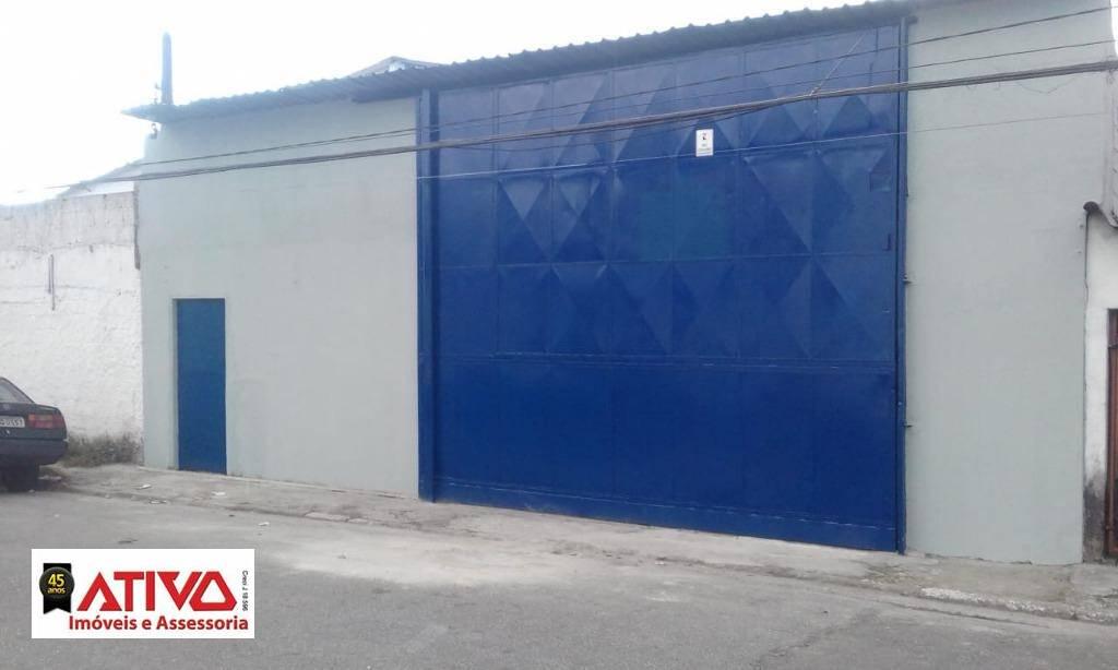 Galpão para alugar, 525 m² por R$ 5.800,00/mês - Serraria - Diadema/SP