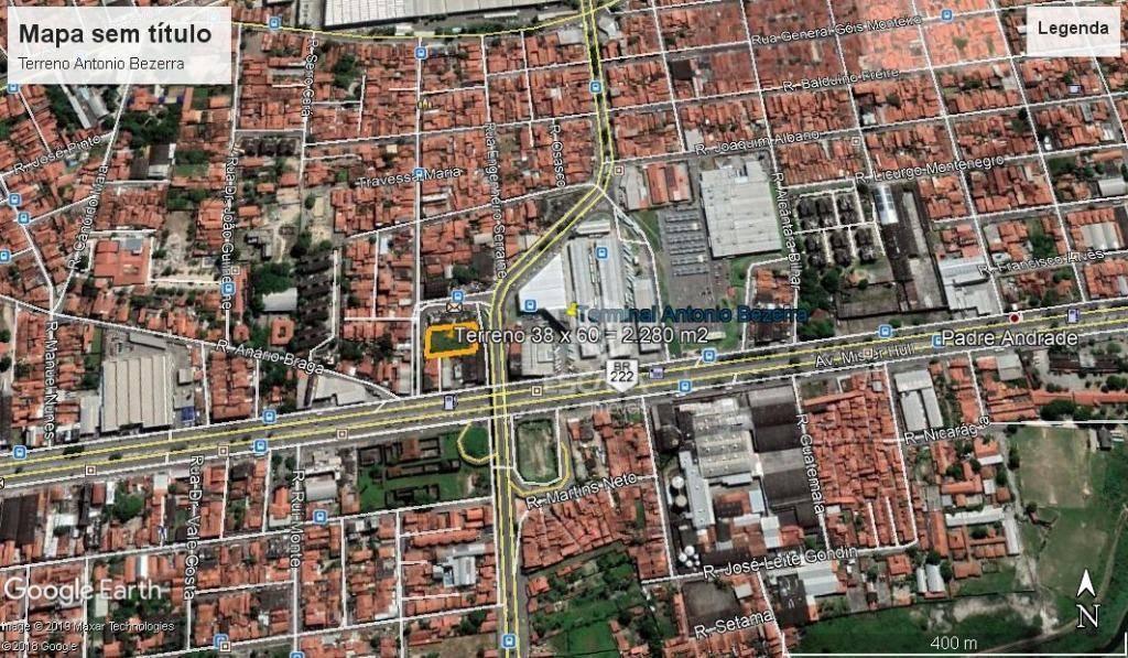 Terreno à venda, 2280 m² por R$ 2.280.000 - Antônio Bezerra - Fortaleza/CE