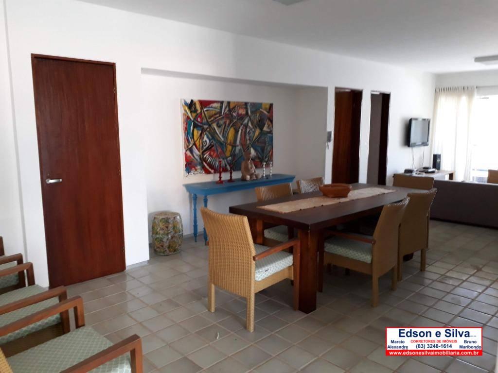 Apartamento com 3 dormitórios à venda, 173 m² por R$ 380.000,00 - Camboinha - Cabedelo/PB