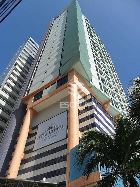 Flat com 2 quartos à venda, 65 m², vista mar, mobiliado - Meireles - Fortaleza/CE