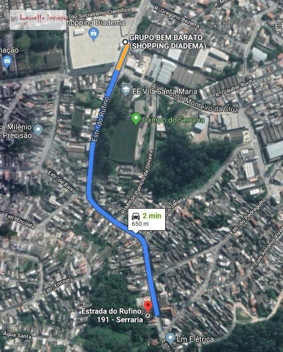 Terreno à venda, 3600 m² por R$ 1.340.000 - Vila Santa Antônia - Diadema/SP