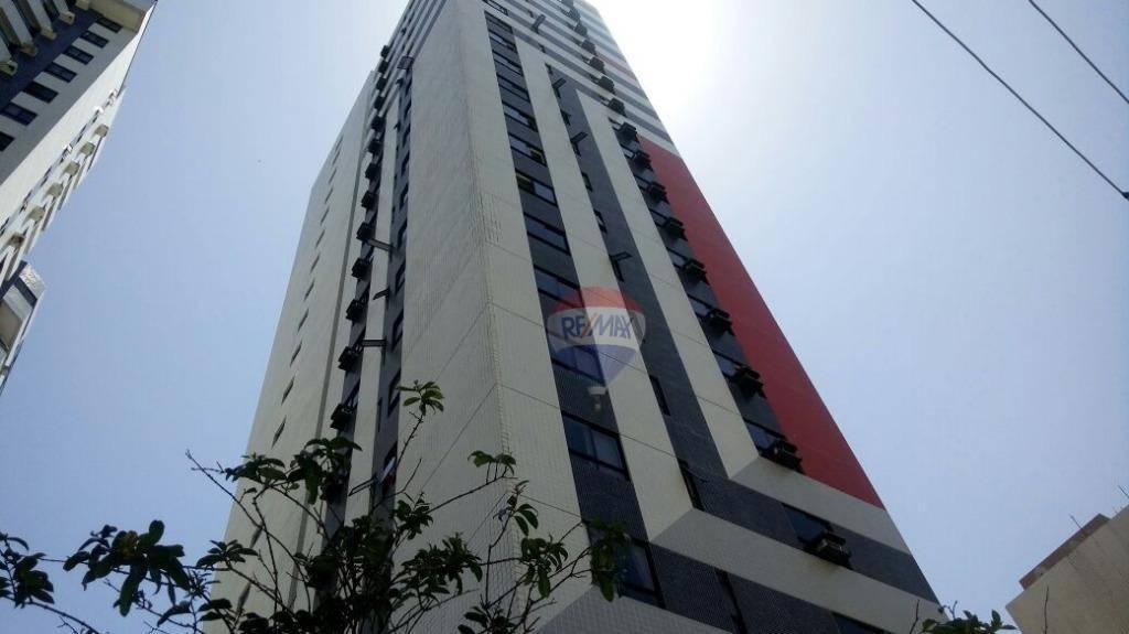 Flat com 1 dormitório para alugar, 33 m² por R$ 1.500/mês - Candeias - Jaboatão dos Guararapes/PE