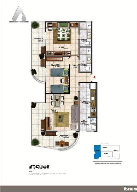 Apartamento em Braga  -  Cabo Frio - RJ
