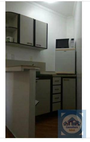 Flat com 1 dormitório à venda, 30 m² por R$ 115.000 - Itararé - São Vicente/SP