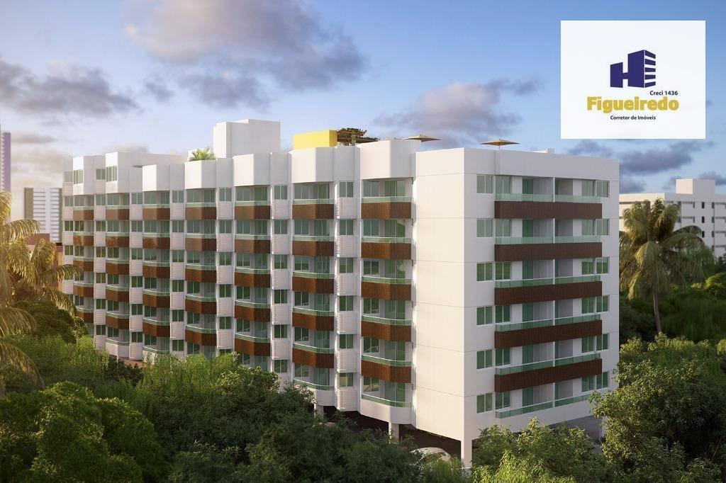 Apartamento com 2 dormitórios à venda, 56 m² por R$ 345.000 - Bessa - João Pessoa/PB
