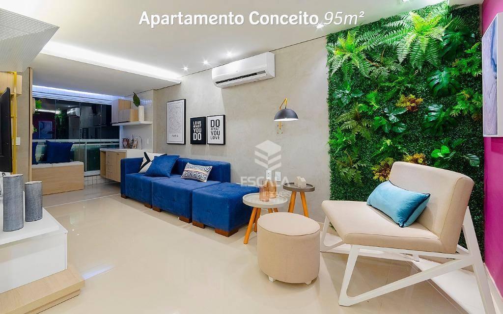 Apartamento com 3 quartos à venda, 116 m², área de lazer, 2 vagas, financia - cidade dos Funcionários - Fortaleza/CE