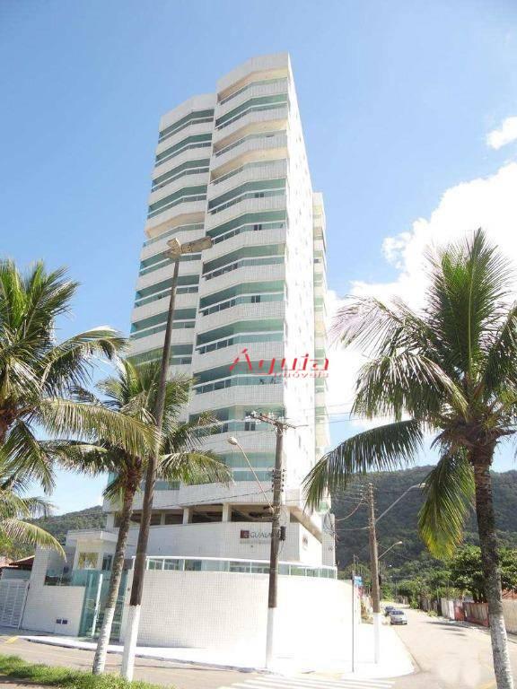 Apartamento com 2 dormitórios à venda, 67 m² por R$ 320.000 - Solemar - Praia Grande/SP