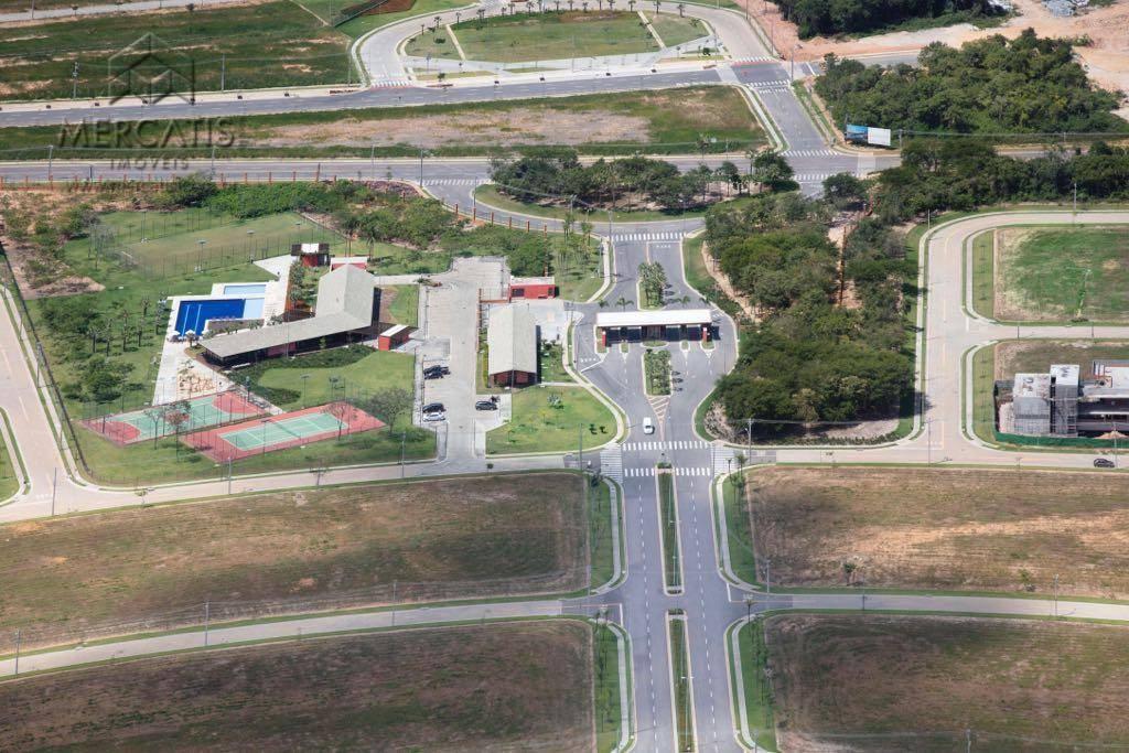 vista aérea entrada | condomínio alpha residencial 1