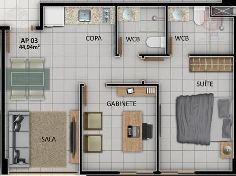 Flat residencial à venda, Cabo Branco, João Pessoa - FL0007.
