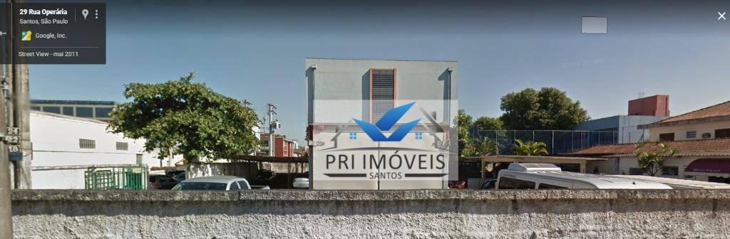 Área comercial à venda, Macuco, Santos.