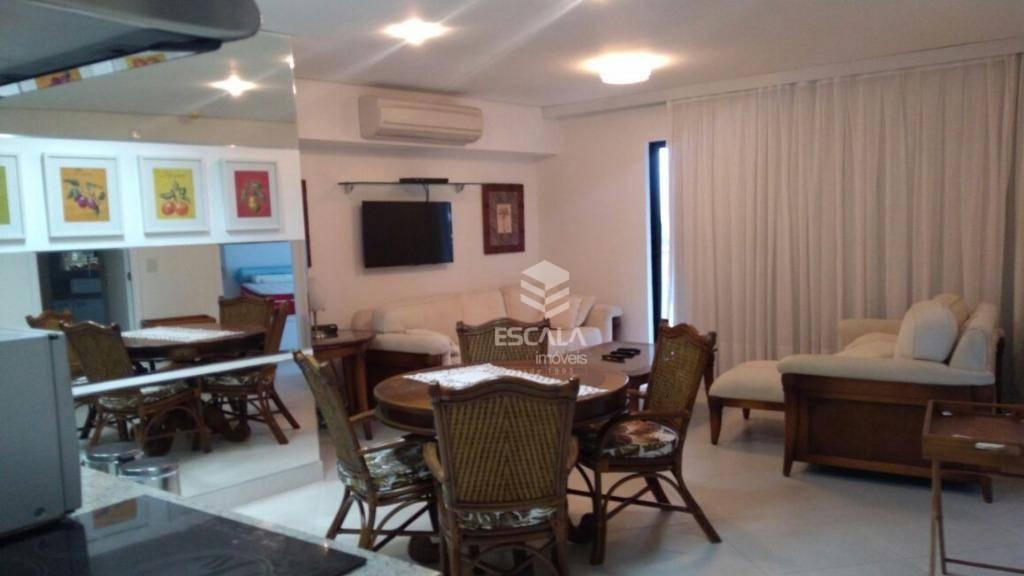 Apartamento com 2 dormitórios para alugar, 67 m² por R$ 3.500/mês - Meireles - Fortaleza/CE