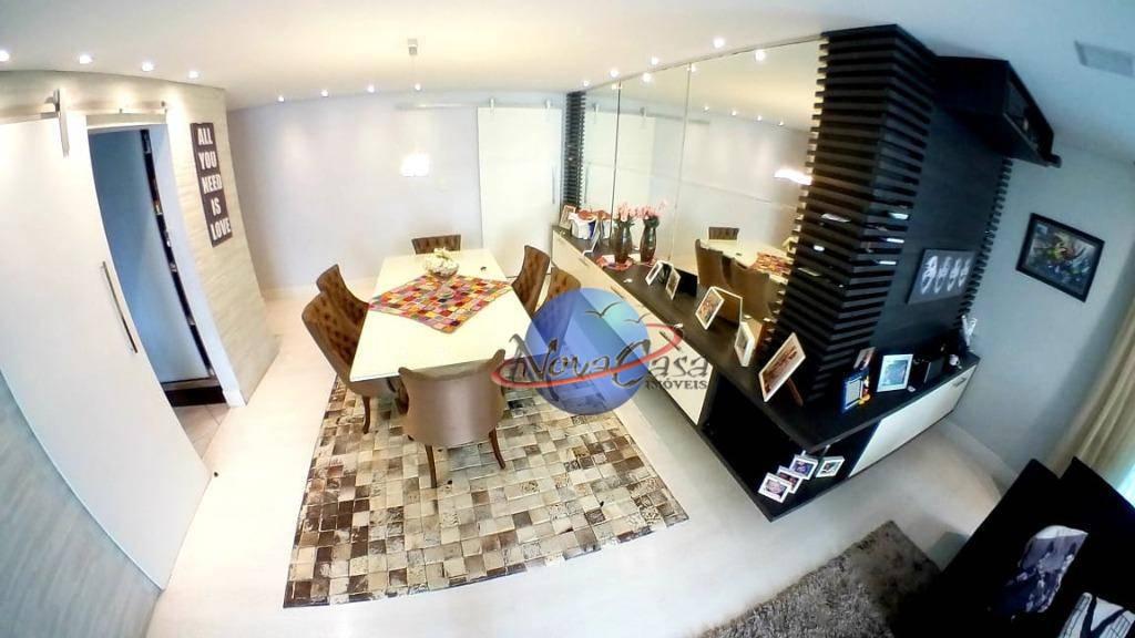 Apartamento com 3 dormitórios, sendo uma suíte, para alugar, 130 m² por R$ 2.500/mês - Tupi - Praia Grande/SP
