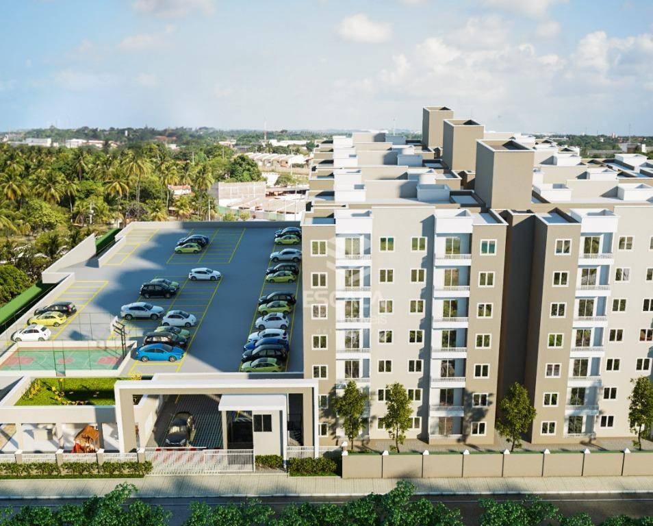Apartamento com 2 quartos à venda, 45 m², área de lazer, financia - Centro - Eusébio/CE