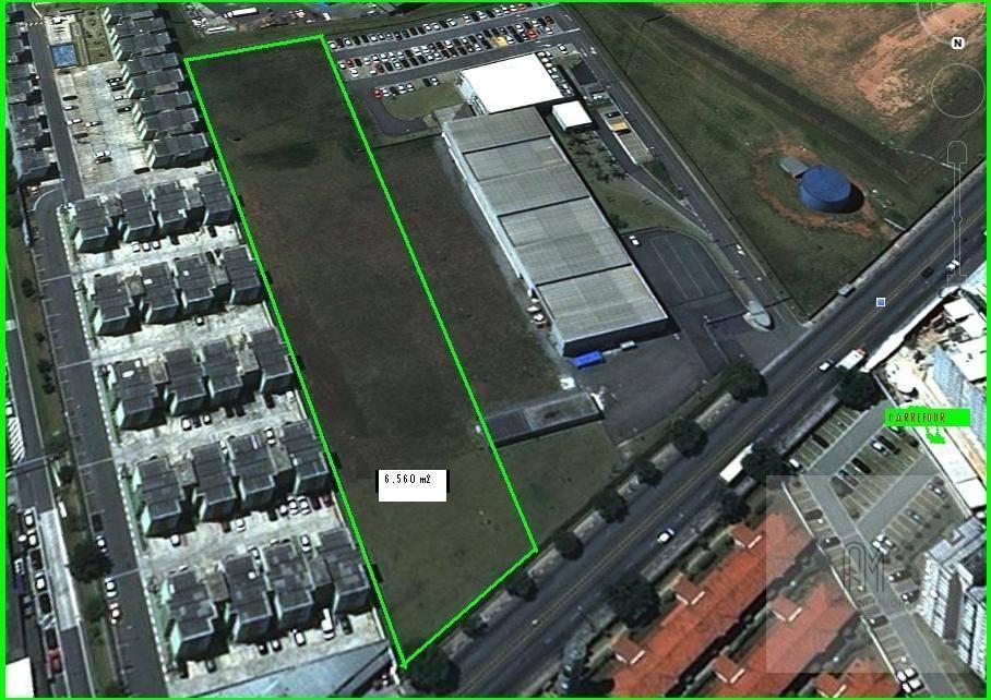 Área industrial com 6.560 m² totalmente plana, Taboão, São B