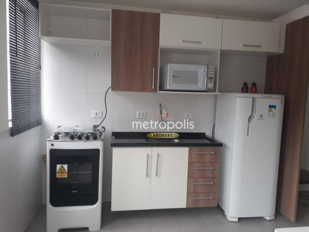 Studio com 1 dormitório para alugar, 44 m² por R$ 1.489,00/mês - Centro - São Caetano do Sul/SP
