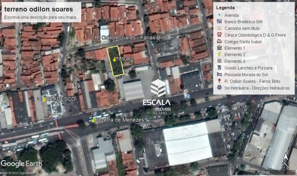 Terreno à venda, 709 m² por R$ 500.000 - Farias Brito - Fortaleza/CE