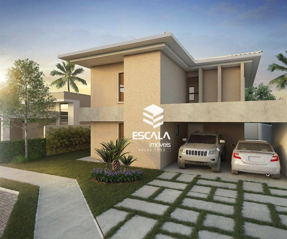 Casa duplex com 4 quartos à venda, 215 m², varanda gourmet, área de lazer, 4 vagas - Centro - Eusébio/CE