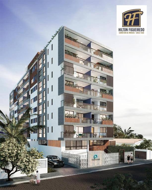 Apartamento com 3 dormitórios à venda, 106 m² por R$ 729.179,00 - Camboinha - Cabedelo/PB